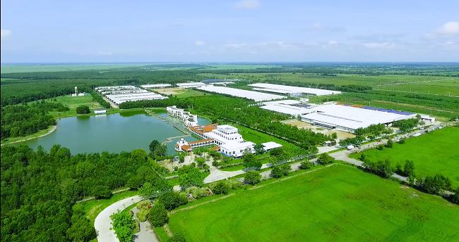 """Toàn cảnh """"Resort 4.0"""" Vinamilk Tây Ninh được bao bọc bởi màu xanh tươi mát của cây cỏ mùa xuân"""