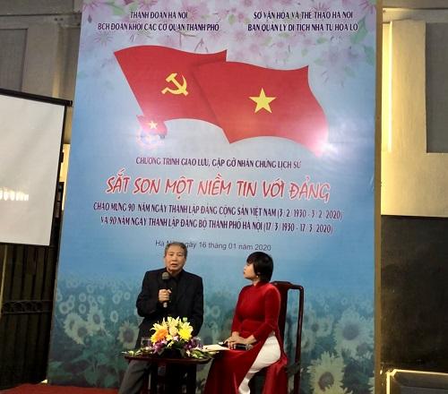 Ông Nguyễn Tài Triệu tại buổi giao lưu nhân chứng lịch sử