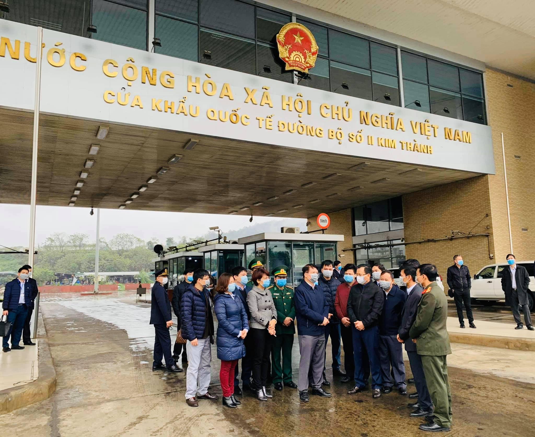 Đoàn công tác kiểm tra công tác phòng dịch tại cửa khẩu Kim Thành (Lào Cai).