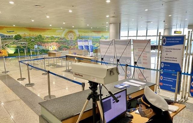 Khu vực đo thân nhiệt để phát hiện hành khách có biểu hiện cúm, sốt cao sẽ được đưa vào cách ly riêng để tránh nguy cơ lây nhiễm dịch virus corona.