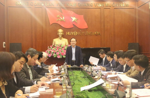 Phó Chủ tịch Thường trực HĐND TP Nguyễn Ngọc Tuấn kiểm tra công tác chuẩn bị Đại hội Đảng các cấp tại huyện Ứng Hòa