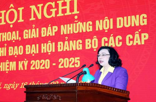 Phó Bí thư Thường trực Thành ủy Ngô Thị Thanh Hằng: Không để lọt người không đủ tiêu chuẩn vào danh sách nhân sự