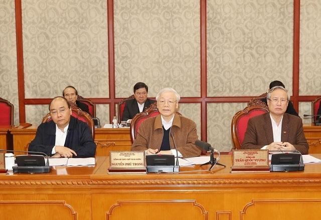 Bộ Chính trị họp về phòng chống dịch bệnh COVID-19.
