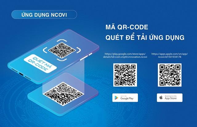 Quét mã QR Code để tải ứng dụng NCOVI.