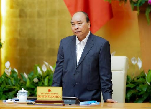 Thủ tướng Nguyễn Xuân Phúc phát biểu tại cuộc họp. Ảnh: Thống Nhất/TTXVN.