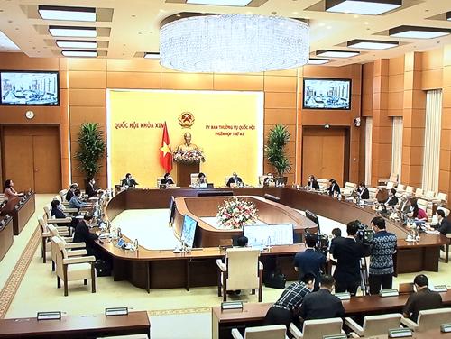 Phiên họp thứ 43 của Ủy ban Thường vụ Quốc hội diễn ra  trong 2,5 ngày làm việc với tinh thần tích cực, khẩn trương, nghiêm túc, hiệu quả. Ảnh: VGP/Nguyễn Hoàng