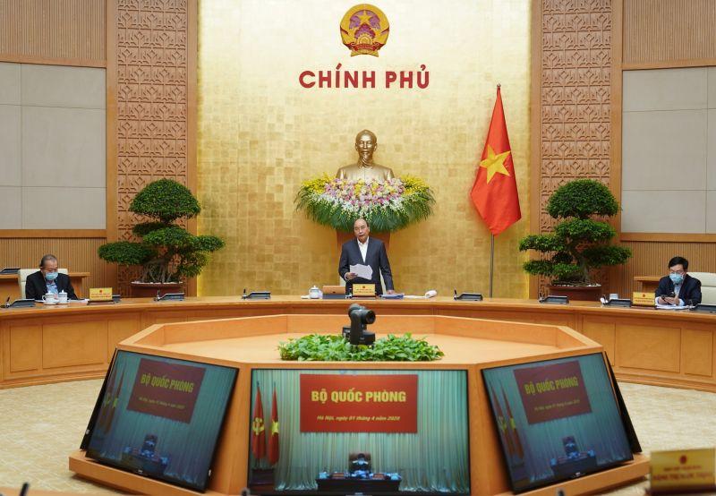 Thủ tướng Chính phủ Nguyễn Xuân Phúc phát biểu tại phiên họp thường kỳ Chính phủ tháng 3 năm 2020
