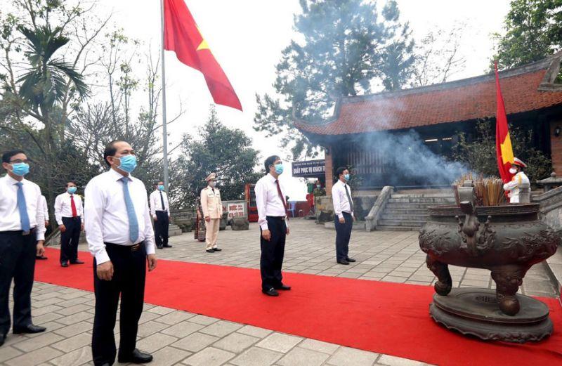 Lễ giỗ Đức Quốc tổ Lạc Long Quân, Tổ Mẫu Âu Cơ tại tỉnh Phú Thọ, ngày 29-3-2020. Ảnh: Trung Kiên – TTXVN