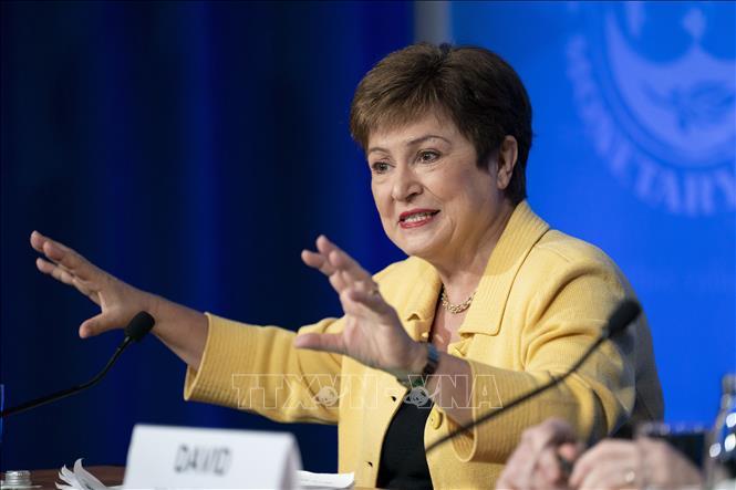 Tổng Giám đốc IMF Kristalina Georgieva. Ảnh: THX/TTXVN