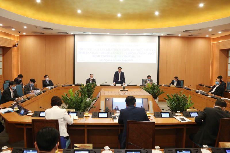 Hội nghị giao ban trực tuyến công tác quý 1 năm 2020 của UBND TP Hà Nội