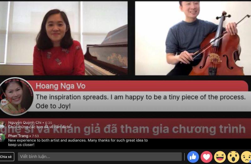 Một buổi hoà nhạc trực tuyến của chương trình được chia sẻ trên mạng xã hội.