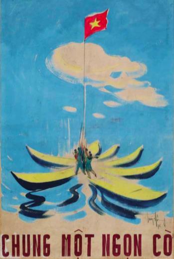 Bức tranh của Huỳnh Phương Đông, sáng tác năm 1976.