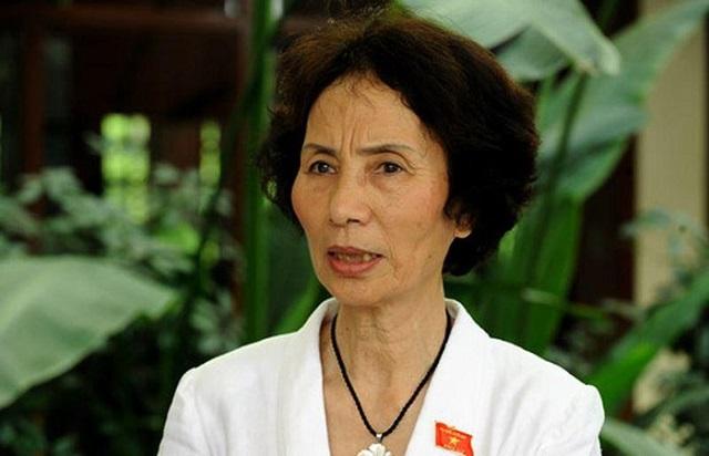 PGS. TS Bùi Thị An - Chủ tịch Hội Nữ trí thức Thành phố Hà Nội, nguyên Đại biểu Quốc hội khóa XIII.