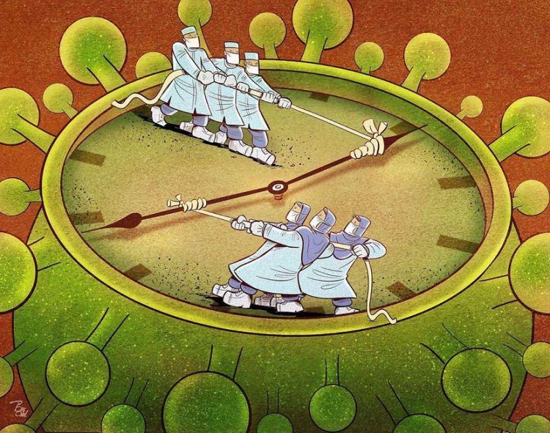 Các bác sĩ và y tá nỗ lực chạy đua với thần chết, chạy đua với thời gian để cứu người bệnh.