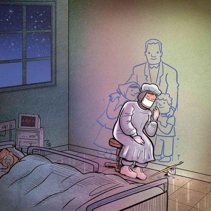 Họ buộc phải xa gia đình, những người thân yêu nhất, để vừa tham gia vào cuộc chiến dai dẳng vừa bảo vệ sức khỏe của những người thân yêu.