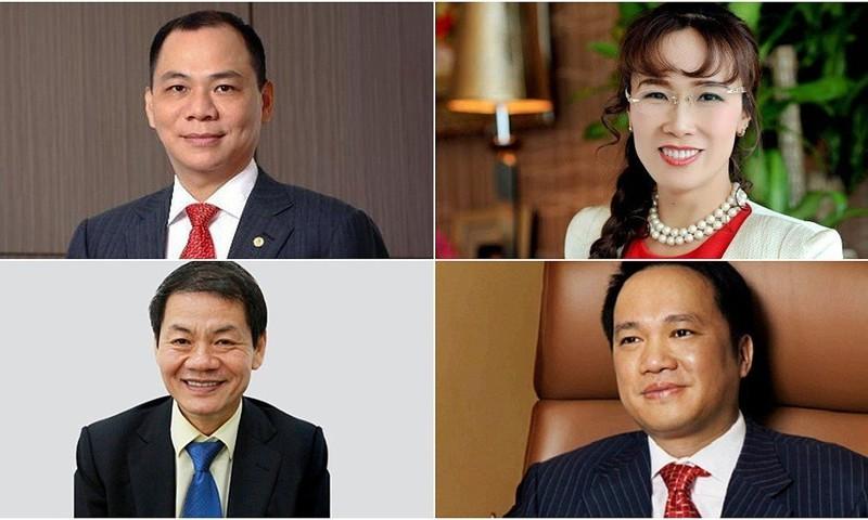 4 tỷ phú của Việt Nam xuất hiện trong danh sách của Forbes.