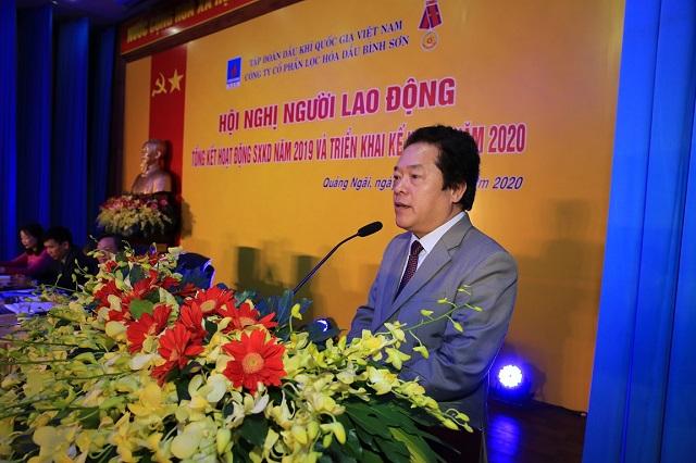 Phó Chủ tịch UBND tỉnh Quảng Ngãi Võ Phiên biểu dương những thành công BSR năm 2019.
