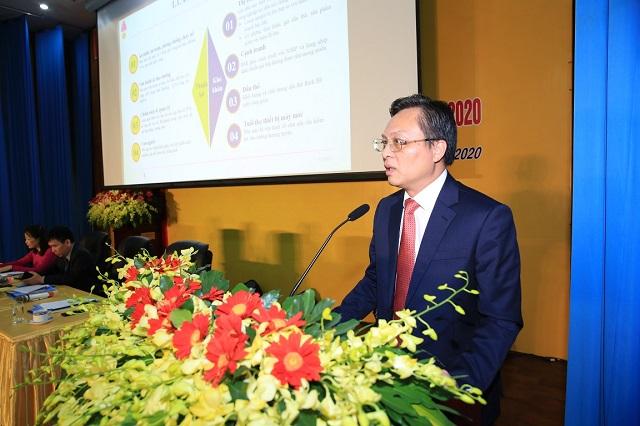 Tổng giám đốc BSR Bùi Minh Tiến báo cáo tổng kết 2019, triển khai nhiệm vụ kế hoạch 2020.
