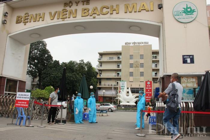 Bệnh viện Bạch Mai trước khi thực hiện cách ly toàn bộ bệnh viện.