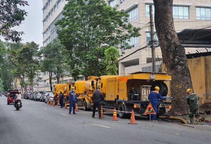 Công ty Thoát nước Hà Nội đang tập trung xử lý