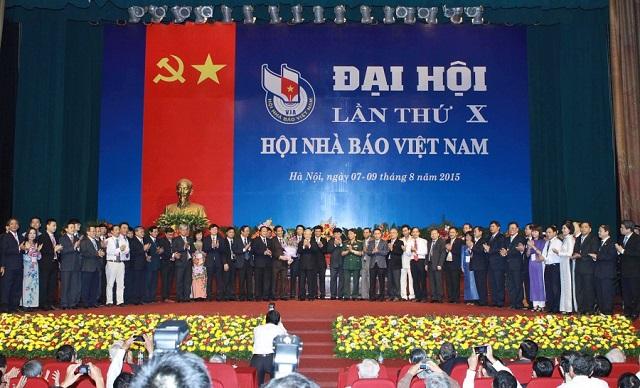 Đại hội Hội Nhà báo Việt Nam lần thứ X năm 2015.