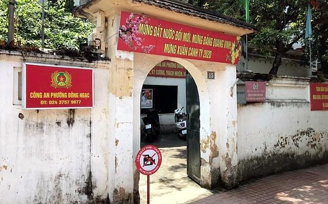 Trụ sở công an phường Đông Ngạc đã được gỡ bỏ lệnh cách ly