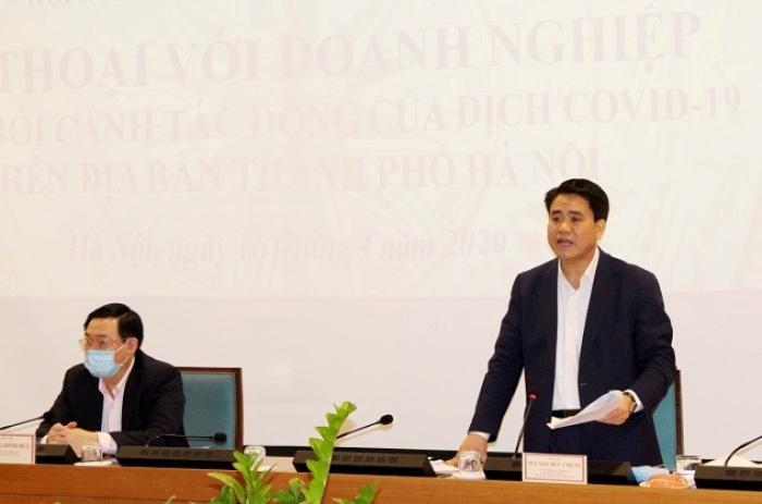 Chủ tịch UBND TP Nguyễn Đức Chung kết luận tại hội nghị.