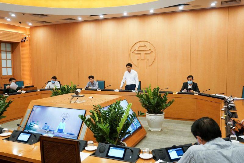 Phiên họp trực tuyến Ban Chỉ đạo PC dịch Covid -19 TP Hà Nội