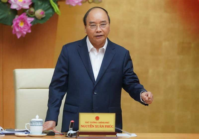Thủ tướng Nguyễn Xuân Phúc phát biểu tại cuộc làm việc - Ảnh: VGP/Quang Hiếu