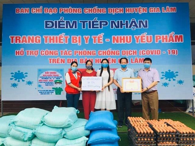 Chị Bùi Kim Thanh cho biết, chị chỉ muốn đóng góp sức lực nhỏ bé vào khối đại đoàn kết chung, cùng đồng bào cả nước chiến thắng dịch Covid-19