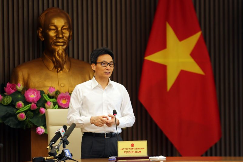 Phó Thủ tướng Vũ Đức Đam chủ trì cuộc họp. - Ảnh: VGP/Đình Nam