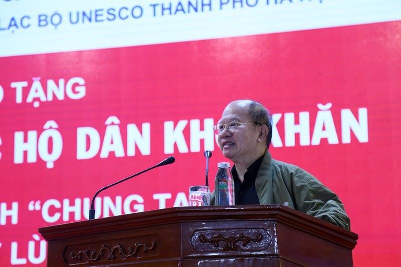 Ông Nguyễn Xuân Thắng phát biểu tại buổi lễ.