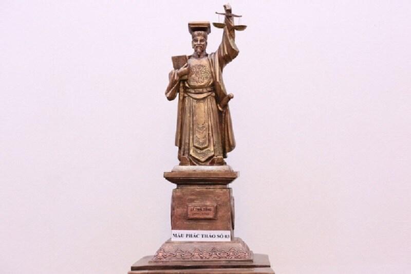 Mẫu phác thảo số 3 tượng vua Lý Thái Tông. Ảnh: TAND tối cao