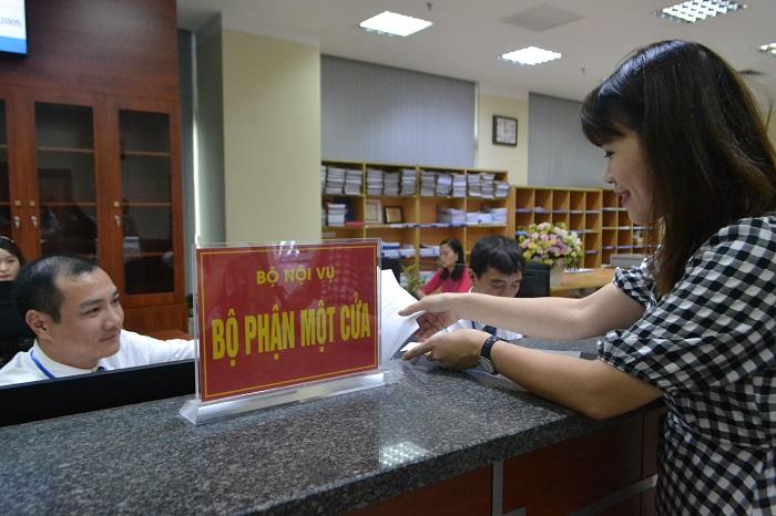 Giải quyết TTHC tại bộ phận Một cửa của Bộ Nội vụ
