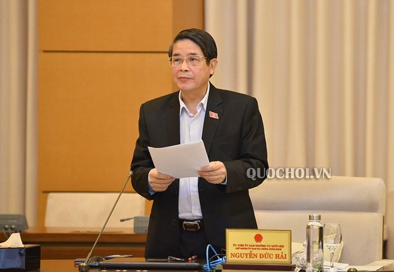 Chủ nhiệm Ủy ban Tài chính - Ngân sách của Quốc hội Nguyễn Đức Hải.