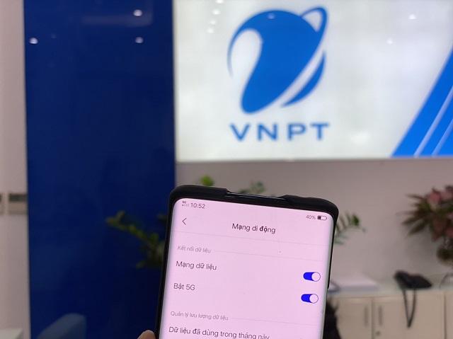 Dùng thử VinaPhone 5G trên thiết bị di động.