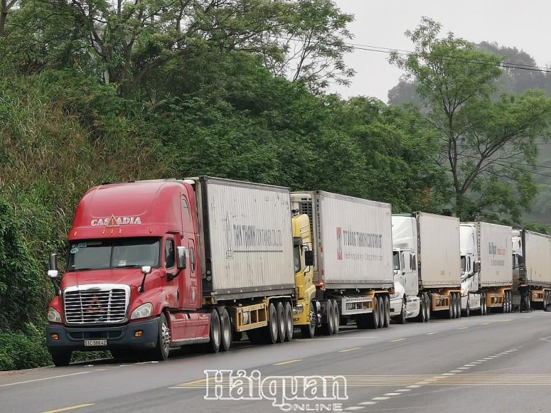 Các xe Việt Nam vào khu vực giám sát của Hải quan Hữu Nghị Quan cũng phải gắn biển số xe điện tử (Ảnh: Báo Hải quan)