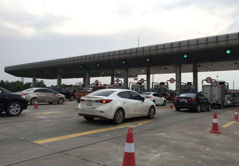 Trạm thu phí cao tốc Hà Nội - Hải Phòng không xảy ra ùn tắc.