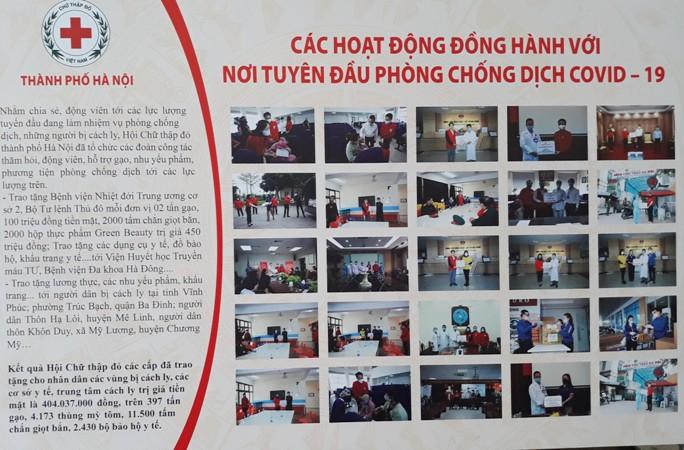 Các hoạt động nhân đạo được Hội Chữ thập đỏ giới thiệu tại phiên chợ để lan tỏa đến cộng đồng