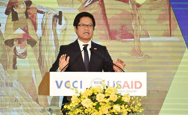 Ông Vũ Tiến Lộc, Chủ tịch Phòng Thương mại và Công nghiệp Việt Nam.