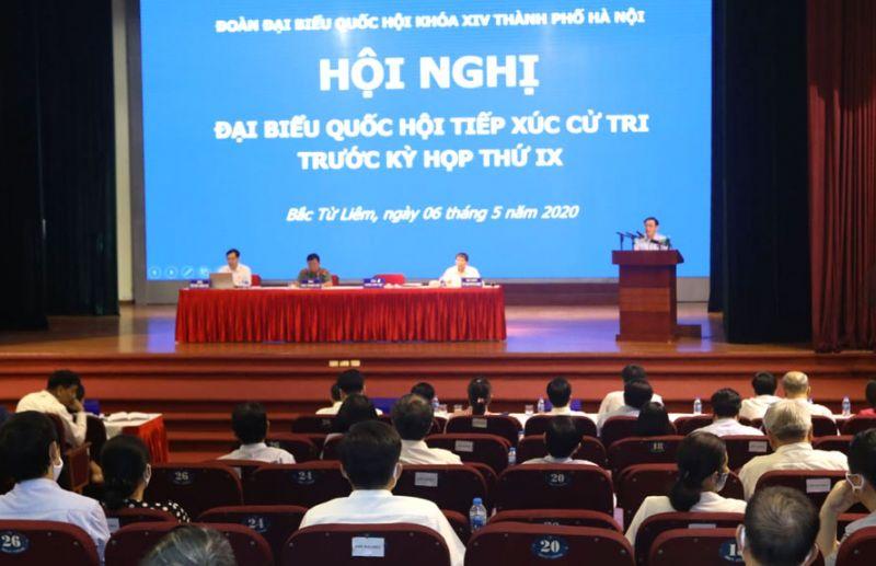 Hội nghị tiếp xúc cử tri quận Bắc Từ Liêm.