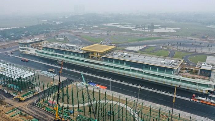 Đường đua F1 ở Mỹ Đình cơ bản đã hoàn thành