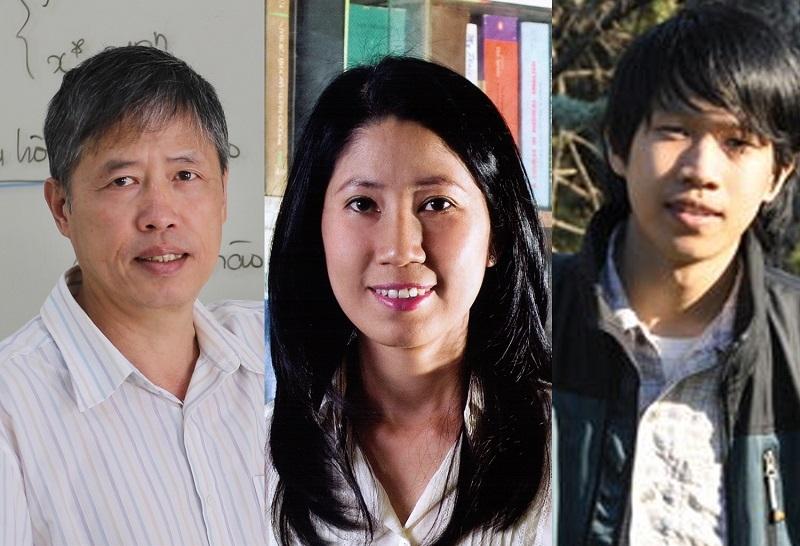 Từ trái qua phải PGS, TS Phạm Tiến Sơn, PGS, TS Vương Thị Ngọc Lan, TS Nguyễn Trương Thanh Hiếu. Ảnh: Bộ Khoa học và Công nghệ
