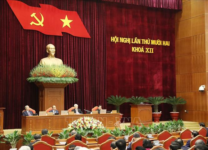 Tổng Bí thư, Chủ tịch nước Nguyễn Phú Trọng phát biểu khai mạc hội nghị. Ảnh: Trí Dũng/TTXVN