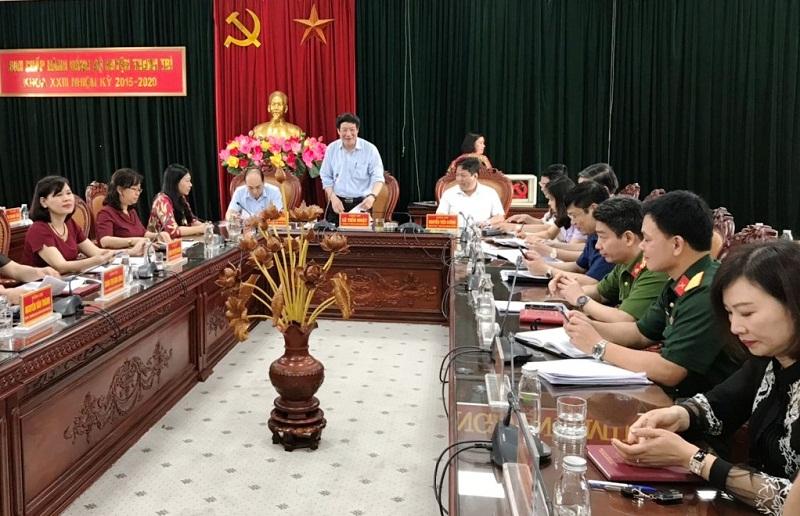 Ban Chấp hành Đảng bộ huyện Thanh Trì tổ chức hội nghị cán bộ chủ chốt để thực hiện công tác nhân sự Đại hội Đảng bộ huyện, nhiệm kỳ 2020-2025