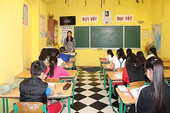 Một buổi học tiếng Việt tại Kharkov, Ukraine.