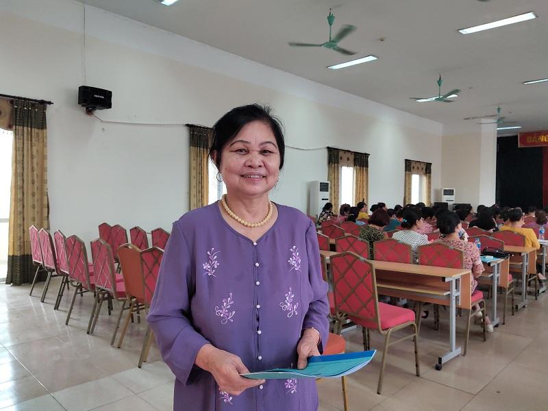 Bà  Nguyễn Thị Thả- Chi hội trưởng phụ nữ khu phố 8, phường Tương Mai, quận Hoàng Mai cho biết: Với 15 năm tham gia công tác Hội, để thu hút vận động hội viên tham gia tổ chức Hội  thì điều quan trọng đầu tiên là cán bộ Hội phải kiên trì, mềm dẻo vận động phải có tính thuyết phục
