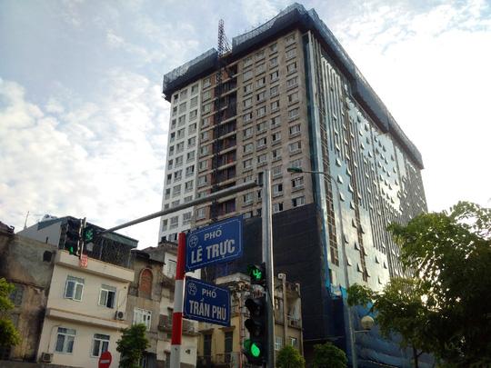 Công trình sai phạm tại 8B Lê Trực, phường Điện Biên, quận Ba Đình