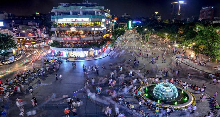 Không gian đi bộ khu vực Hồ Hoàn Kiếm