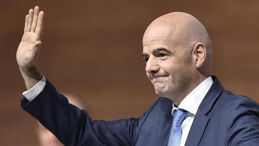 Chủ tịch Liên đoàn bóng đá thế giới FIFA ông Gianni Infantino.